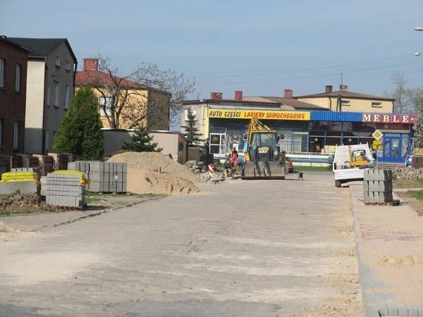 W Woźnikach trwają obecnie modernizację i remonty kilku ulic m.in. Ułanów