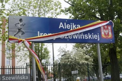 Otwarcie alejki Ireny Szewińskiej w Inowrocławiu [zdjęcia]
