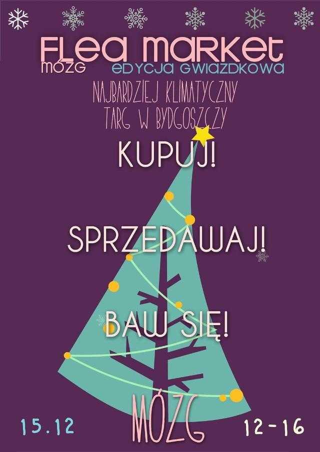 plakat Flea Market MÓZG 15.12.2012r.