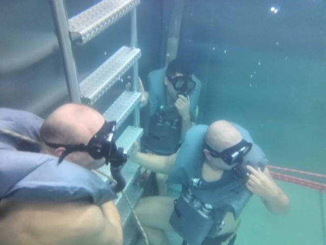Szkolenie podwodne dla czołgistów z Żurawicy.