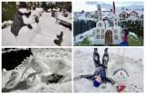 Nowy Sącz. Te niezwykłe rzeźby śnieżne powstały w Nowym Sączu. Zrobiły je sądeckie dzieciaki [ZDJĘCIA]