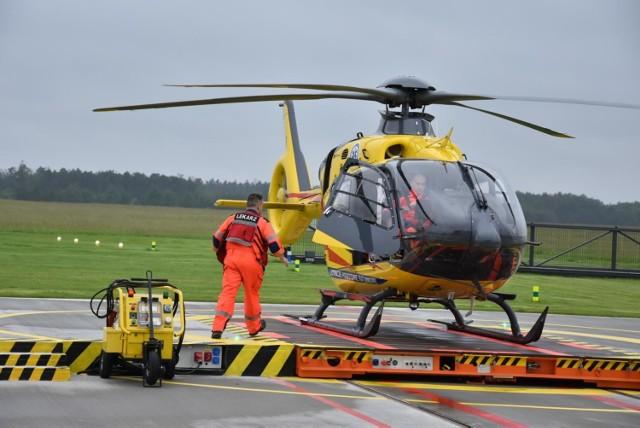 Jednego z rannych śmigłowiec LPR przetransportował z Praszki do szpitala w Opolu.