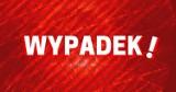Wypadek przy Żaku w Gdańsku 2.11.2020. Samochód osobowy zderzył się z dźwigiem na wiadukcie przy ul. Braci Lewoniewskich. Rannych 2 dzieci