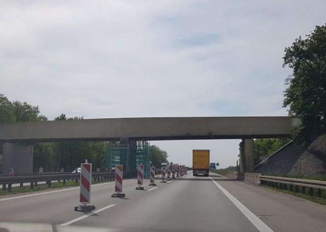 Remont wiaduktów i zwężenia na autostradzie A4.