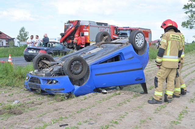 Wypadek na DK 16 w Szczepankach w powiecie grudziądzkim