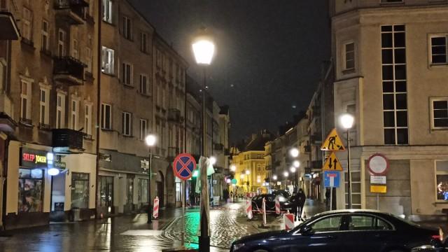 Nowe oświetlenie ulicy Zamkowej w Kaliszu
