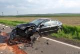 Wypadek pod Krapkowicami. Czołowe zderzenie huyndaia z fordem [ZDJĘCIA]