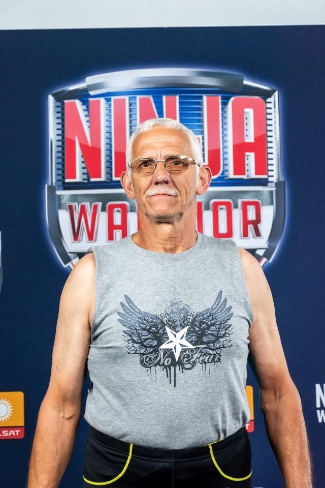 Marek Buchowski podczas nagrania programu Ninja Warrior