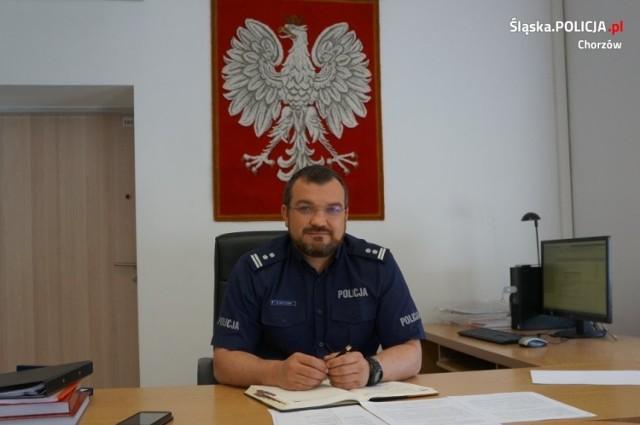 Młodszy inspektor dr Grzegorz Matuszek to nowy szef policji w Chorzowie