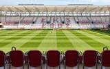 Stadion ŁKS. Tak będzie wyglądał napis na trybunach ŁKS. Będzie jeszcze herb i nazwisko patrona. Kibice krytykują