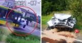Autobus czołowo zderzył się z osobówką. Kierowca skody w ciężkim stanie. Do wypadku doszło w Wieszowie
