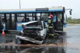 Wypadek na ulicy Piłsudskiego w Legnicy [ZDJĘCIA]