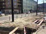 Zabrze: Prace nad przebudową torowiska w centrum miasta znów się przeciągnęły i potrwają najprawdopodobniej do czerwca
