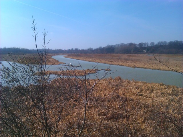 zdjęcie z wysokiego brzegu za Strugiem