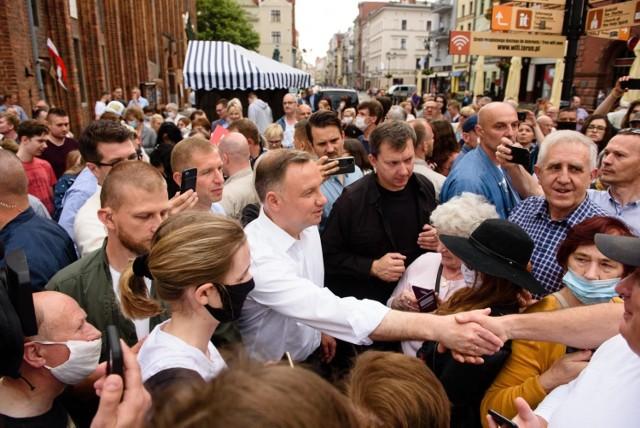 Spotkanie Andrzeja Dudy z mieszkańcami Torunia.