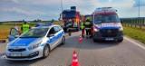Wypadek na 141 km S8 w pow. wieruszowskim. Interweniowało Lotnicze Pogotowie Ratunkowe