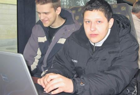 Mateusz Gołębiewski jest pewny, że wiedza z n@utobusu mu się przyda, foto:Edyta Szewczyk