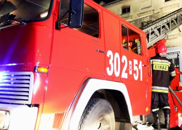 Pożar przy Granicznej w Katowicach