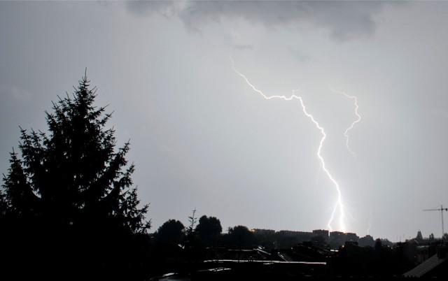 Burza nad Krakowem.