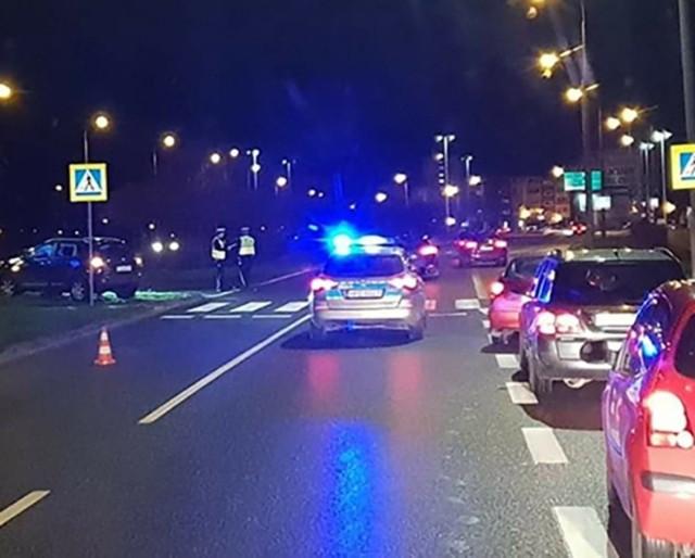 Wypadek mial miejsce na przejściu dla pieszych przy ul. Piłsudskiego w Gorzowie