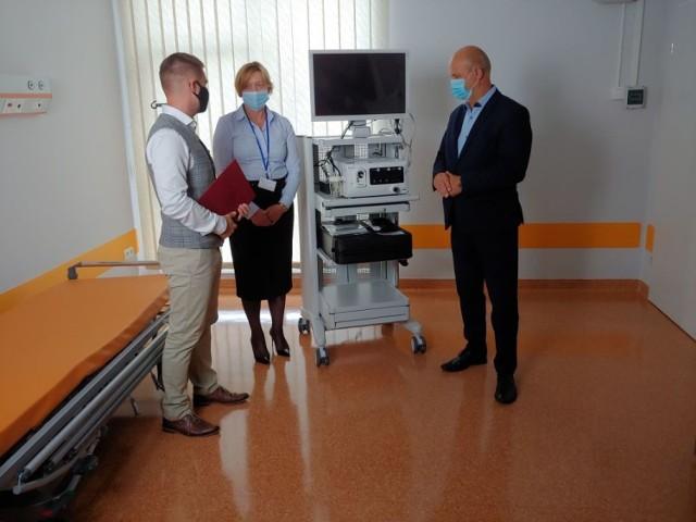 Przekazanie nowego  endoskopu dla szpitala w Szczecinku