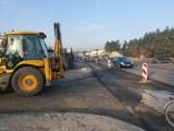 Na ulicy Kolbego w Bydgoszczy powstaje nowy buspas. Będą też chodniki i droga rowerowa [zdjęcia]