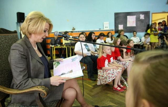 Prezydent łodzi Hanna Zdanowska Czytała Wiersze Dzieciom Z