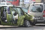 W Szczepankach zderzyły się trzy samochody. Jedna osoba w szpitalu [wideo, zdjęcia]