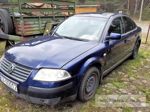 Samochód VOLKSWAGEN PASSAT 1.8 T  Rok produkcji: 2002  Cena: 3 500 zł  Miejsce i termin: AMW w Lublinie, ul. Łęczyńska 1, 14 października 2021 r., godz. 13.00