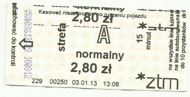 Tak drukują biletomaty.