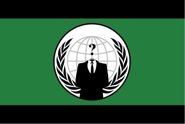 Flaga hakerów z Anonymous
