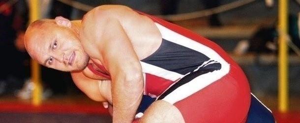 Bartłomiej Bartnicki z Górnika Łęczna rywalizuje w stylu wolnym (kategoria 120 kg)