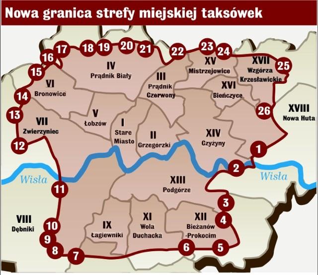 W Krakowie Obowiazuja Nowe Strefy Dla Taksowek Gazeta Krakowska