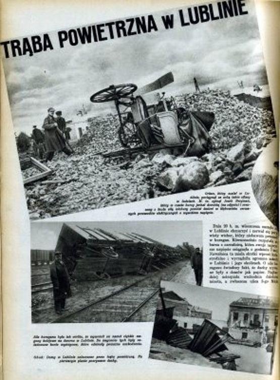 Kolumna ze zdjęciami w gazecie z 1931 r.