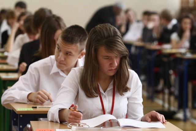 W środę zakończyła się pierwsza część próbnego egzaminu gimnazjalnego. Gimnazjum nr 34 w Łodzi.