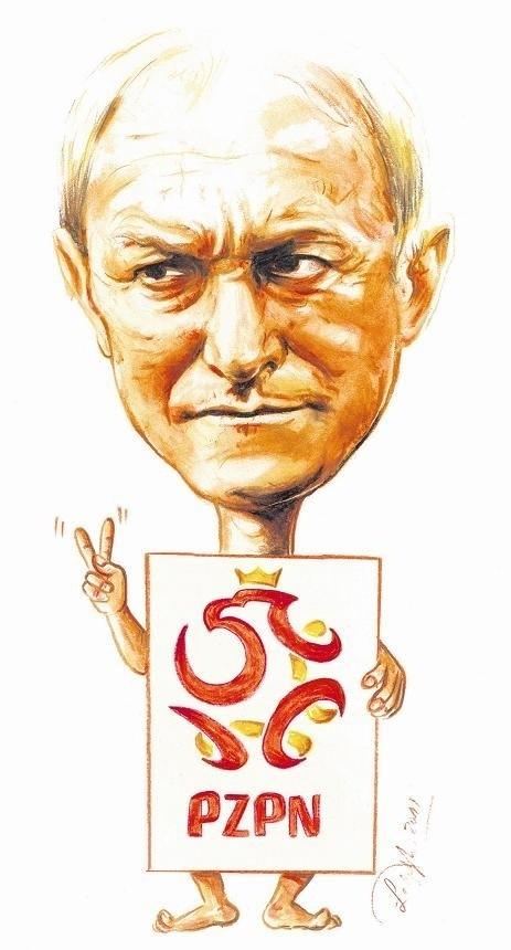 Karykatura Franciszka Smudy.