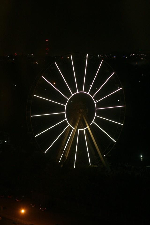 Iluminacja Diabelskiego Młyna w Chorzowie