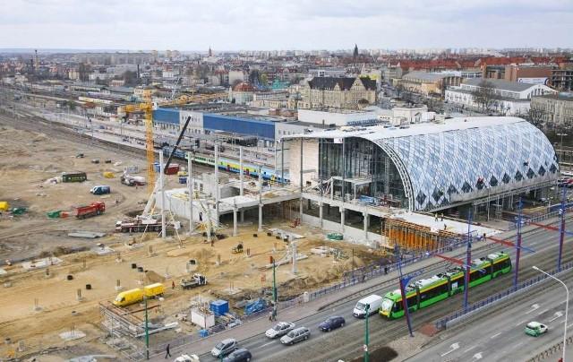 Budowa dworca z lotu ptaka