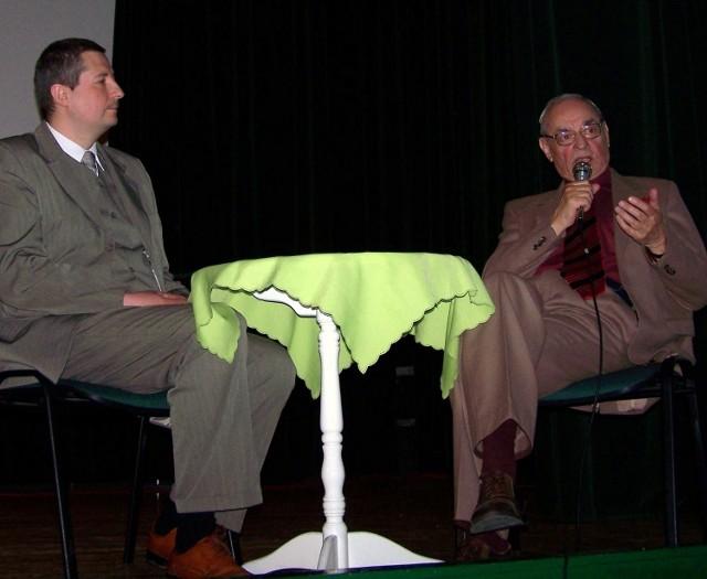 Janusz Horodniczy (z prawej) spotkał się z młodą widownią