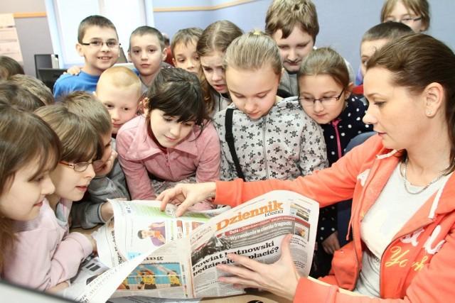 Uczniowie klasy III ze Szkoły Podstawowej nr 70 w Łodzi odwiedzili redakcję Dziennika Łódzkiego.