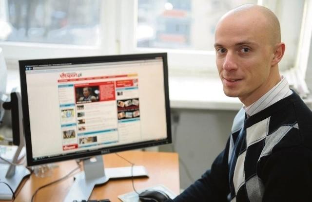 Krzysztof Kaczyński, dyrektor marketingu portalu ,,WielkopolskiSport.pl'' wierzy, że pozyska on odbiorców