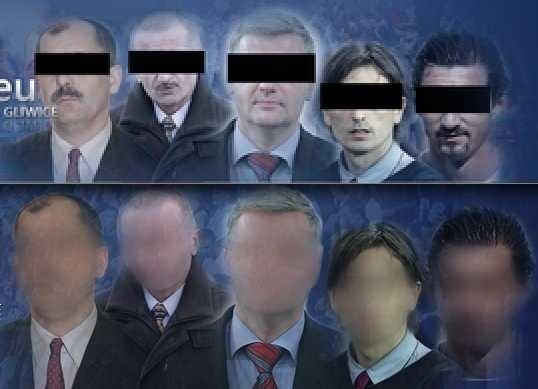 Kibice zmienili zdjęcie na portalu piastgliwice.eu - u góry stara wersja, na dole nowsza