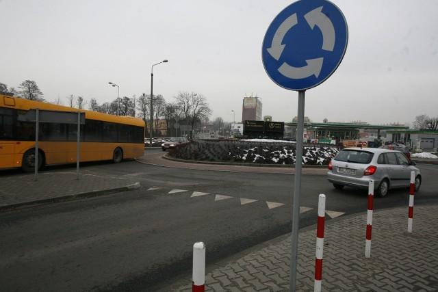 Rondo w Rudzie Śląskiej, które zostało nazwane imieniem Marii i Lecha Kaczyńskich
