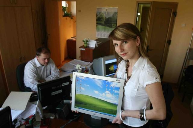Komputery będą  montowane w domach mieszkańców gminy w lipcu - mówi Marta Paszenda z urzędu gminy