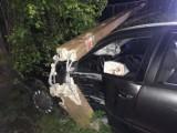 Kierowca stracił panowanie nad pojazdem i uderzył w słup [ZDJĘCIA]