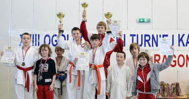 Reprezentacja Pleszewskiego Klubu Karate podczas Dragon Cup