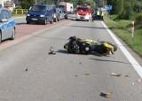 Śmiertelny wypadek w Kikole koło Torunia. Kierowca jednośladu zginął na miejscu [ZDJĘCIA]