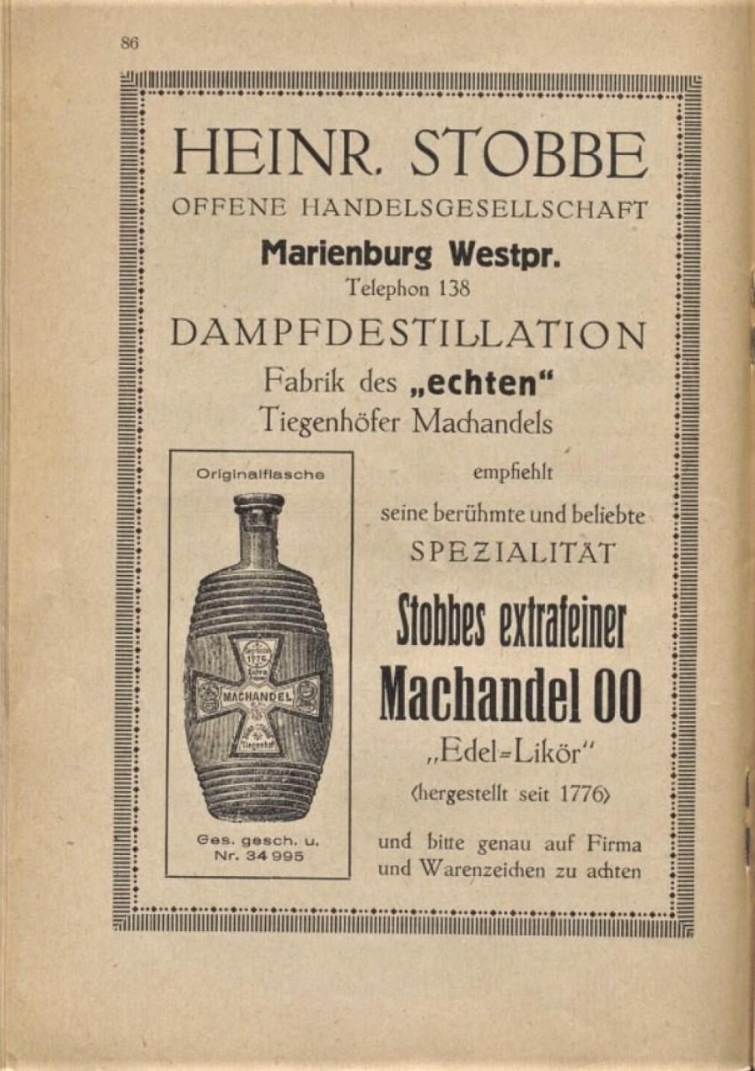 Stobbes Machandel, jałowcówka produkowana w malborskiej...