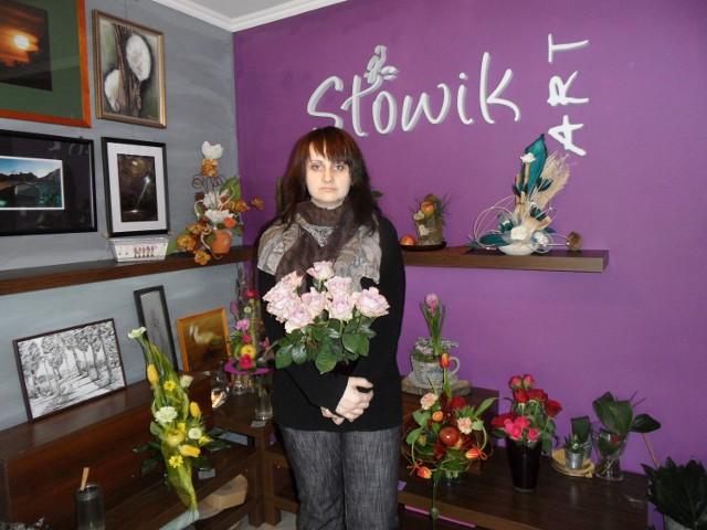 Monika Cybul-Słowikowa zrobi piękny bukiet kwiatów na prezent