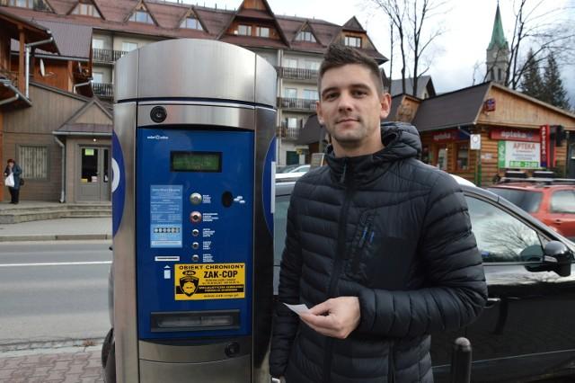 -W Zakopanem w sobotę powinno się parkować za darmo - uważa turysta Krystian Romański